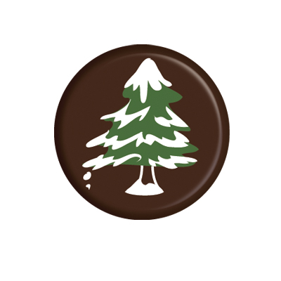 Chocolade rond Puur Kerstboom