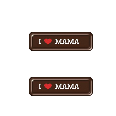Choc. stripje I Love Mama