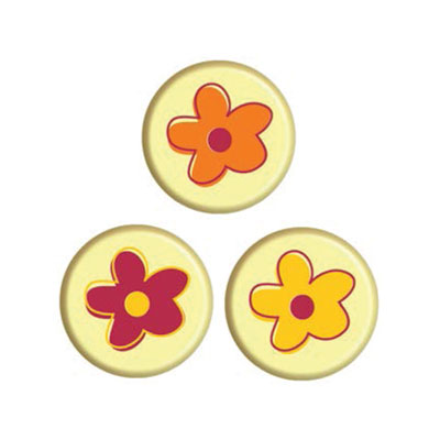 Decoseal Rond Wit Flower Power