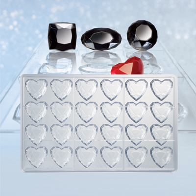 Polycarbonate Mould Pearl Heart - Bonbon vorm