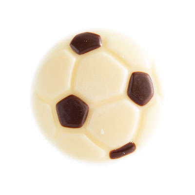 Chocolade Voetbal Puur Wit 2D