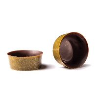 Chocolade Gold Luster mini cup puur